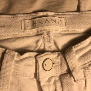 JBrand Snow white skinny leg lightly ripped jeans